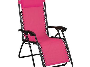 WHITE LABEL - fauteuil relax multiposition rose - spryng - l 91  - Fauteuil De Jardin Pliant