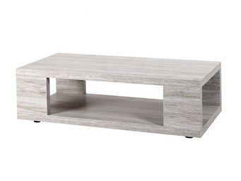 WHITE LABEL - table basse - rejy - l 120 x l 60 x h 40 - bois - Table Basse Rectangulaire