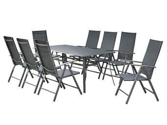 WHITE LABEL - ensemble table et chaises de jardin - sonkran n°4  - Salle À Manger De Jardin