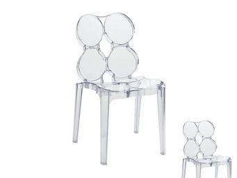WHITE LABEL - duo de chaises transparent - jelly - l 56 x l 48 x - Chaise