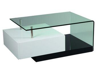 WHITE LABEL - table basse 1 tiroir - ilona - l 100 x l 60 x h 40 - Table Basse Rectangulaire
