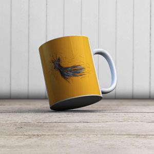 la Magie dans l'Image - mug chevreuil orange - Mug