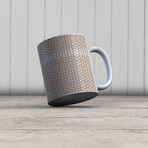 la Magie dans l'Image - mug lotus petit beige blanc - Mug