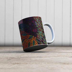 la Magie dans l'Image - mug rêveuse aux cheveux verts - Mug