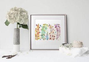 la Magie dans l'Image - print art feuilles - Estampe