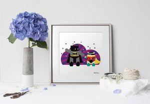 la Magie dans l'Image - print art héros batman - Estampe