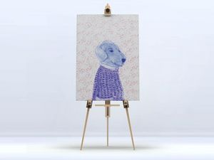 la Magie dans l'Image - toile mon petit chien fond rose - Impression Numérique Sur Toile