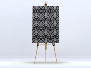 la Magie dans l'Image - toile réseau floral noir - Impression Numérique Sur Toile
