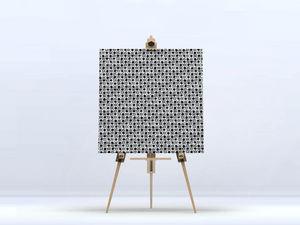 la Magie dans l'Image - toile trfle blanc noir - Impression Numérique Sur Toile
