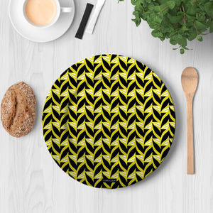 la Magie dans l'Image - assiette abstrait fifties moutarde - Assiette De Présentation