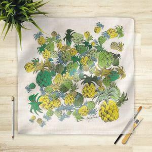 la Magie dans l'Image - foulard ananas - Foulard Carré