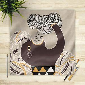 la Magie dans l'Image - foulard pluie gris - Foulard Carré