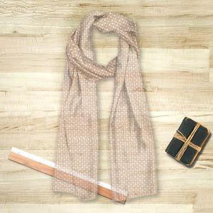 la Magie dans l'Image - foulard trefle beige blanc - Foulard Carré