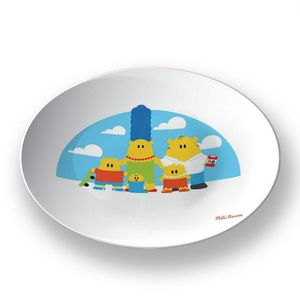 la Magie dans l'Image - assiette héros simpson - Assiette De Présentation