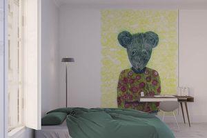 la Magie dans l'Image - grande fresque murale ma petite souris fond fluo - Papier Peint Panoramique