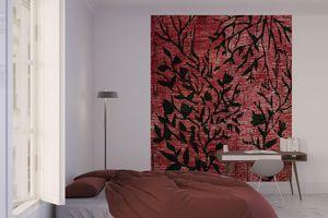 la Magie dans l'Image - grande fresque murale plantes rouges - Papier Peint Panoramique