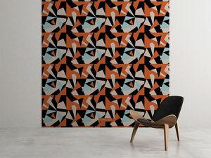 la Magie dans l'Image - grande fresque murale puzzle orange - Papier Peint Panoramique
