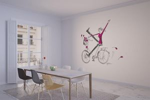 la Magie dans l'Image - grande fresque murale un vélo - Papier Peint Panoramique