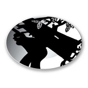 la Magie dans l'Image - assiette ogre arbre noir & blanc - Assiette De Présentation