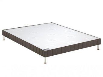 Bultex - bultex sommier tapissier confort ferme taupe 90*1 - Sommier Fixe À Ressorts