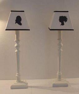 Abat-jour - bougeoir blanc - Lampe À Poser