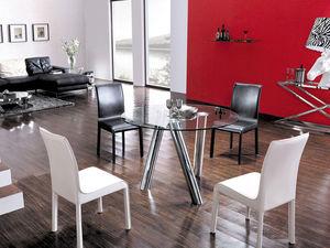 WHITE LABEL - table anna - transparent - Table De Repas Ronde
