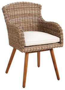 Aubry-Gaspard - fauteuil en poelet et teck - Chaise