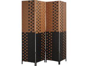 Aubry-Gaspard - paravent 4 panneaux en bois et corde - Paravent