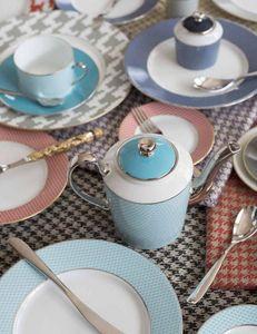 Legle - pied de poule turquoise - Service De Table
