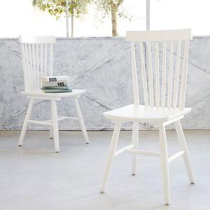 BOIS DESSUS BOIS DESSOUS - lot de 2 chaises en bois d'acajou rétro londres - Chaise