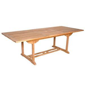 BOIS DESSUS BOIS DESSOUS - table de jardin en bois de teck midland 8/10 place - Table De Jardin À Rallonges