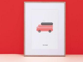 MAISON DEUX - affiche - Tableau Décoratif Enfant