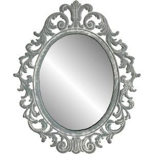 CHEMIN DE CAMPAGNE - style ancien miroir mural de charme gris 33 cm - Photophore