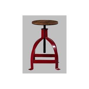 Mathi Design - tabouret industriel d'atelier réglable - Tabouret