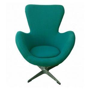 Mathi Design - fauteuil tissu rotatif cocoon - Fauteuil Rotatif
