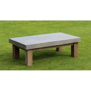 Mathi Design - table basse béton rectangle - Table Basse Rectangulaire