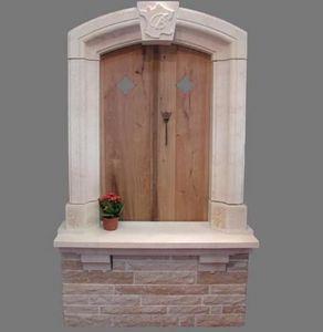 TENDANCE PIERRE - fenetre ancienne en pierre de chanceaux - Encadrement De Fenêtre
