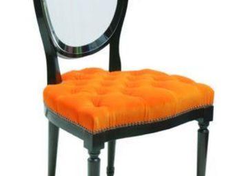 Chaise cul de jatte blanche chaise m daillon bois for Chaise medaillon blanche