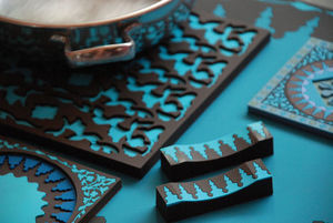 IMAGES D'ORIENT - mosaic blue collection - Dessous De Plat
