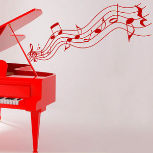 EASYSTIC - notes et piano - Sticker