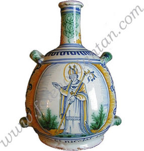 La Faience D'antan - faience de nevers - Gourde Décorative