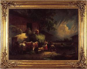Bertrand Klein - l'orage - Huile Sur Toile Et Huile Sur Panneau
