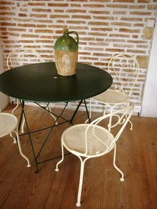 L'atelier tout metal - table m�tallique pliante - Table De Jardin Pliante