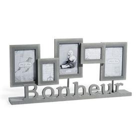 Cadre gris bonheur cadre maisons du monde decofinder - Cadre photo maison du monde ...