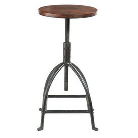 tabouret industry tabouret de bar r glable maisons du monde. Black Bedroom Furniture Sets. Home Design Ideas