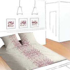Confession Brique Housse De Couette Rouge Abstrait Coton