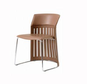 Casonaka chaise brun cuir roche bobois decofinder - Chaise cuir roche bobois ...