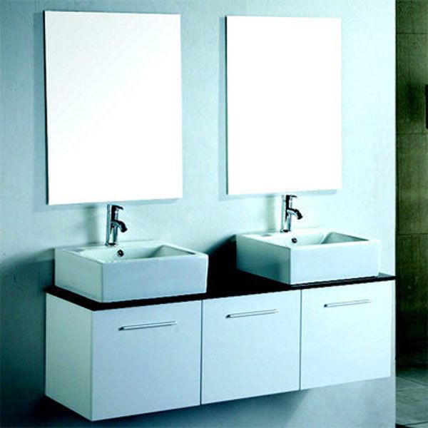 Cublanc design en double vasque 1400mm meuble double - Meuble vasque original ...