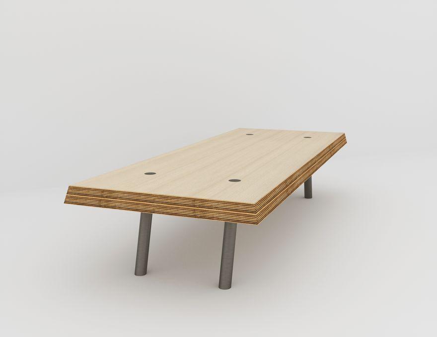l 39 acier biseaut e table basse rectangulaire noir malherbe. Black Bedroom Furniture Sets. Home Design Ideas
