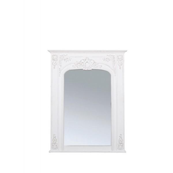 Gladys pm miroir blanc d 39 ivoire decofinder for Miroir blanc vieilli